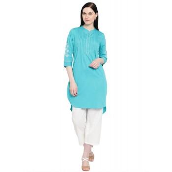 Rangriti Women Casual Wear Embroidred Kurta