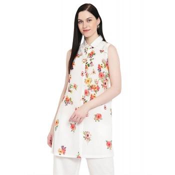 Rangriti Women Casual Wear Floral Print Tunic