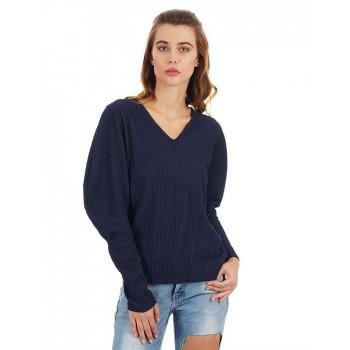 Rareism Women Casual Wear Texture Top