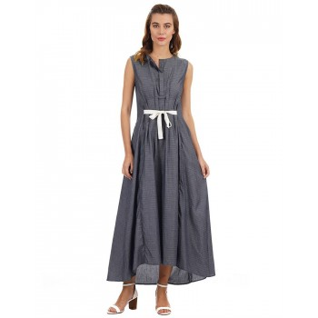 Rareism Women Casual Wear Striped Dress
