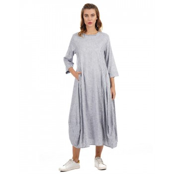 Rareism Women Casual Wear Texture Dress