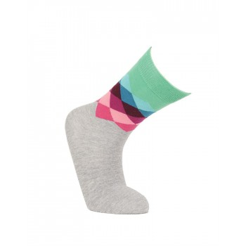 Simple Habits Unisex Combed Cotton Self Design Calf Length Socks