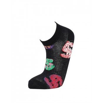 Simple Habits Unisex Combed Cotton Self Design Ankle Length Socks