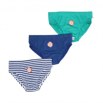 Snhug Boys Multicolor Solid Pack of 3 Brief