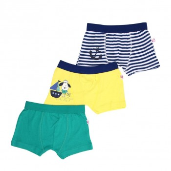 Snhug Boys Multicolor Solid Pack of 3 Trunk