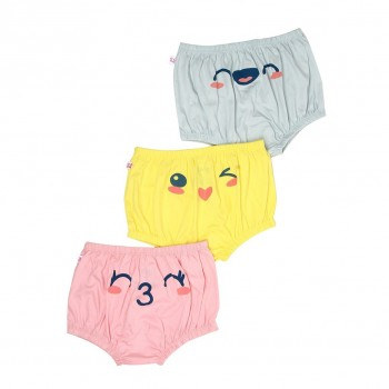 Snhug Girls Multicolor Printed Pack of 3 Panty