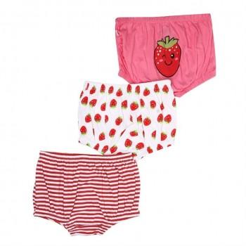 Snhug Girls Multicolor Printed Pack of 3 Panty