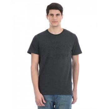 Super Dry Men Casual Wear Dark Grey T-Shirt