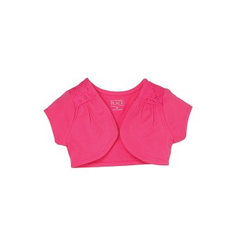 The Children's Place Girls Casual Wear Solid Shrug