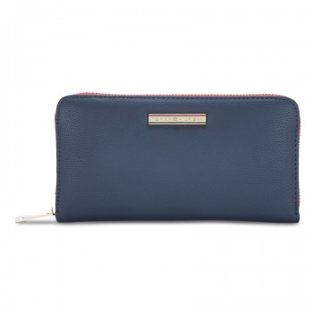 Tommy Hilfiger Leather Women Blue Hand Wallet