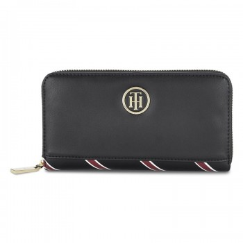 Tommy Hilfiger Leather Women Black Hand Wallet