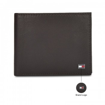 Tommy Hilfiger Leather Men Brown Fold Wallet