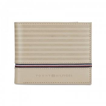 Tommy Hilfiger Leather Men Beige Fold Wallet