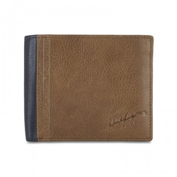 Tommy Hilfiger Leather Men Tan Fold Wallet