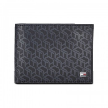 Tommy Hilfiger Leather Men Black Fold Wallet