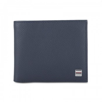 Tommy Hilfiger Leather Men Blue Fold Wallet