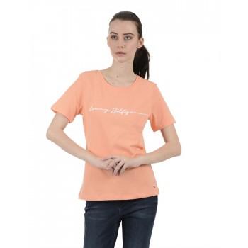 Tommy Hilfiger Women Orange Casual Wear T-Shirt