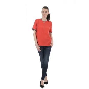 Tommy Hilfiger Women Red Casual Wear Top