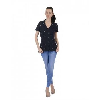 Tommy Hilfiger Women Blue Casual Wear T-Shirt