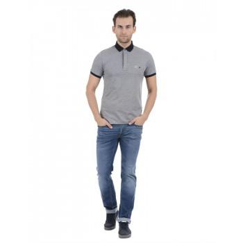 Tommy Hilfiger Men Casual Wear Grey T-Shirt