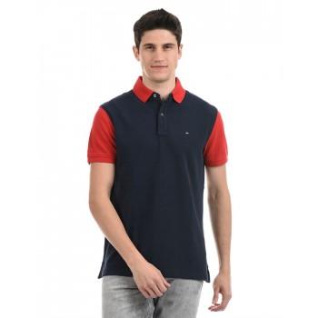 Tommy Hilfiger Men Casual Wear Navy T-Shirt