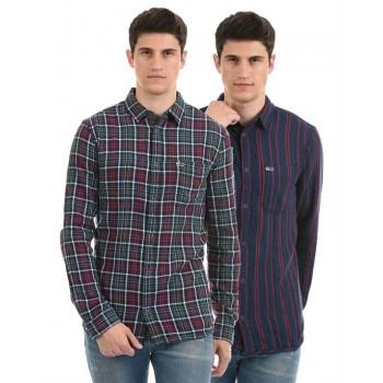 Tommy Hilfiger Men Casual Wear Multicolor Reversible Shirt