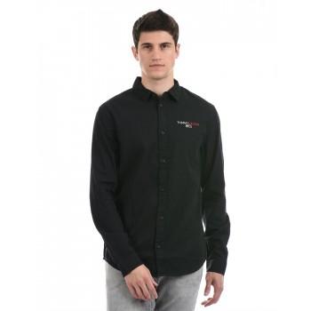 Tommy Hilfiger Men Casual Wear Black Shirt