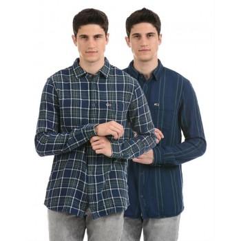 Tommy Hilfiger Men Casual Wear Navy Reversible Shirt
