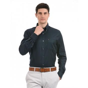 Tommy Hilfiger Men Formal Wear Navy Shirt