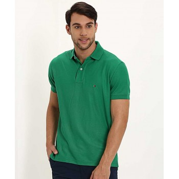Tommy Hilfiger Men Casual Wear Solid T-Shirt