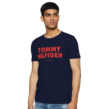 Tommy Hilfiger Men Casual Wear Chest Print T-Shirt
