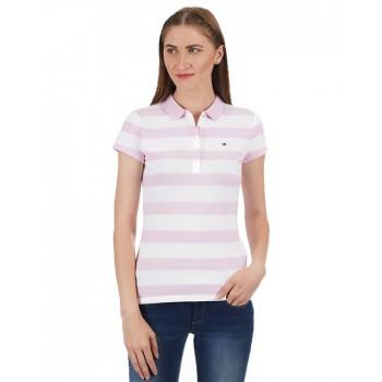 Tommy Hilfiger Women Striped Casual Wear T-shirt