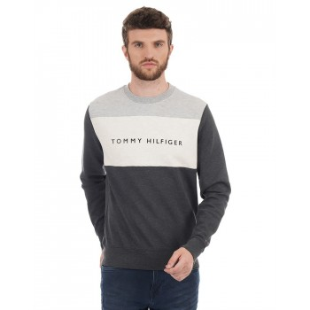 Tommy Hilfiger Men Casual Wear Color Block Sweatshirt