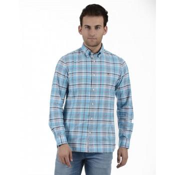 Tommy Hilfiger Men Casual Wear Sky Blue Shirt