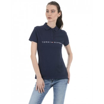 Tommy Hilfiger Women Casual Wear Navy T-Shirt