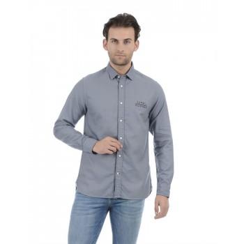 Tommy Hilfiger Men Casual Wear Blue Shirt