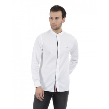 Tommy Hilfiger Men White Casual Wear Shirt
