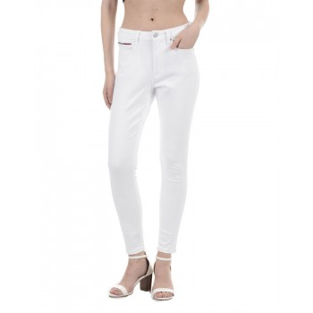 Tommy Hilfiger Women Casual Wear White Jeans