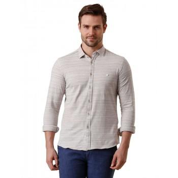 True Blue Men Casual Wear Solid Shirt