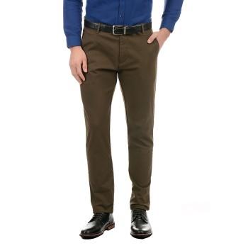 True Blue Men Green Casual Wear Trouser