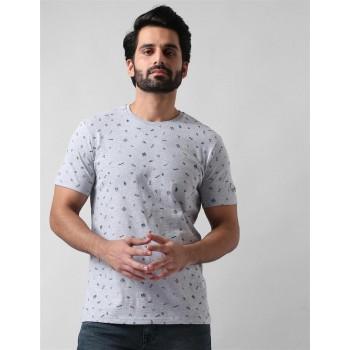 True Blue Men Casual Wear Printed  T-Shirt