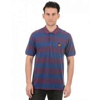 True Blue Men Blue Casual Wear T-Shirt