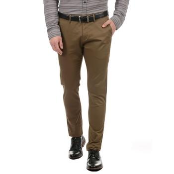 True Blue Men Brown Casual Wear Trouser