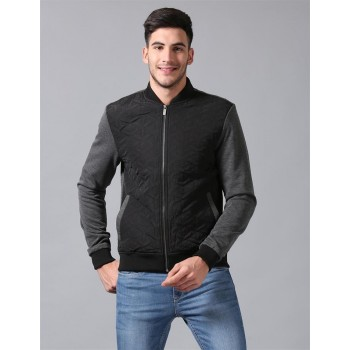 True Blue Men Casual Wear Self Design Jacket