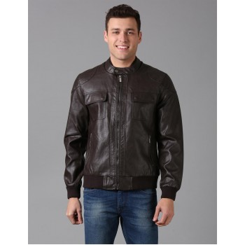 True Blue Men Casual Wear Solid Jacket