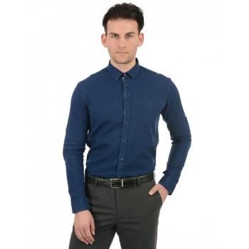 True Blue Men Blue Casual Wear Shirt