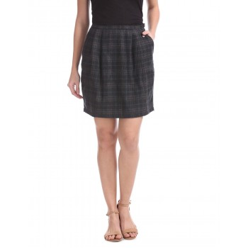 U.S. Polo Assn. Women Casual Wear Checkered Skirt