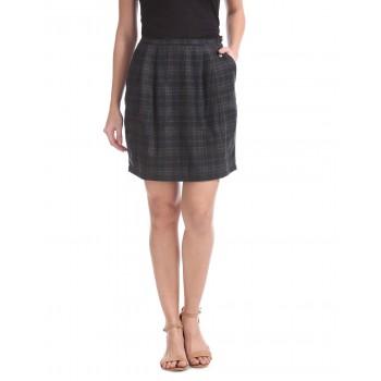 U.S. Polo Assn. Women Casual Wear Checkered Skirt