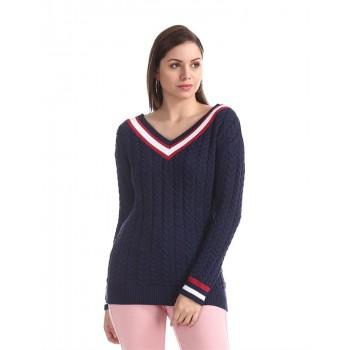 U.S. Polo Assn. Women Casual Wear Solid Sweater