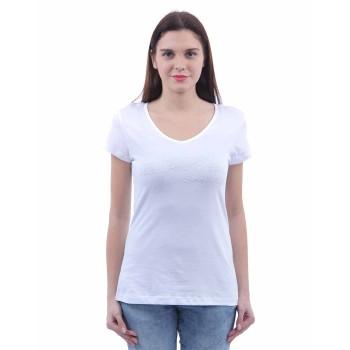 U.S. Polo Assn. Women Casual Wear Solid T-Shirt